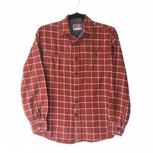 Wrangler plaid long sleeve button down shirt Small